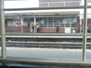 Glass Scratches at South Harrow Station